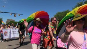 Millwoods United Church, Edmonton at Edmonton Pride 2015.