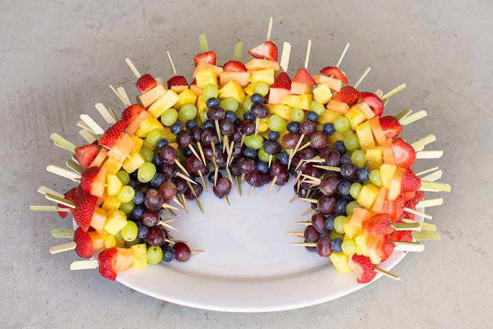 Edible rainbow at Grafton United Church's Affirming celebration.