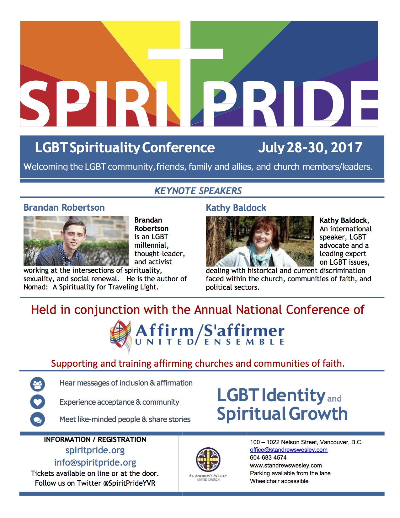 2017 Spirit Pride and AUSE annual conference poster-photo