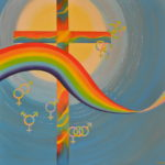 Rainbow cross altar piece-George St United