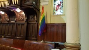 GowerStUC-Rainbow flag