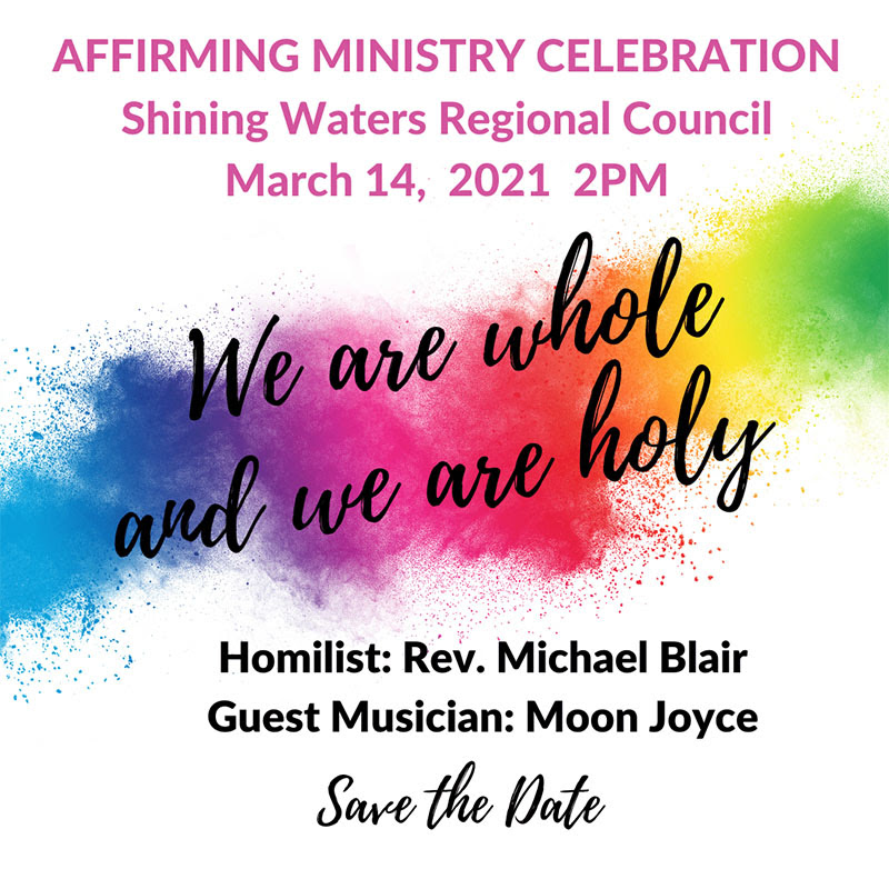 Affirming Ministry Celebration for Shining Waters Regional Council! @ Online at Facebook
