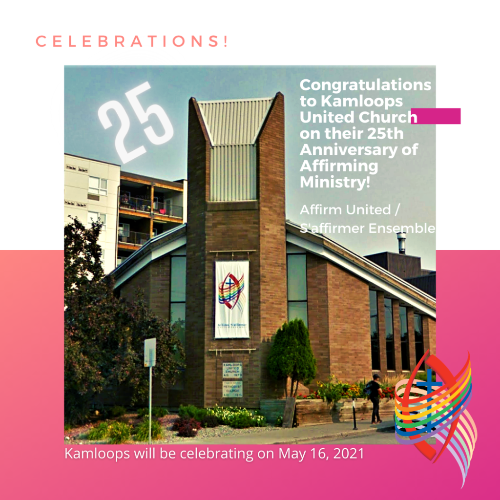 Kamloops United Church 25th Affirming Anniversary